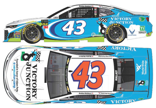2019 Bubba Wallace NASCAR Diecast 43 Victory Junction CWC 1:24 Lionel Action RCCA Elite Liquid Color 99