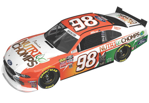 2019 Chase Briscoe NASCAR Diecast 98 Nutri Chomps CWC 1:24 Lionel Action ARC Autographed 99
