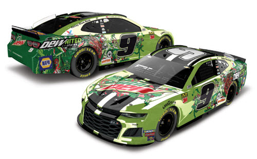 2019 Chase Elliott NASCAR Diecast 9 Mountain Mtn Dew Dewnited CWC 1:24 Lionel Action RCCA Elite Color Chrome 99