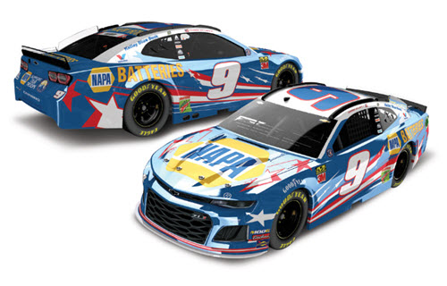 2019 Chase Elliott NASCAR Diecast 9 NAPA Patriotic Salute CWC 1:24 Lionel Action ARC Color Chrome 99