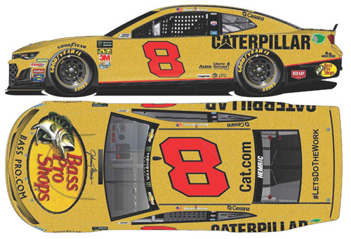 2019 Daniel Hemric NASCAR Diecast 8 Bass Pro RCR 50th Anniversary CWC 1:24 Lionel Action RCCA Elite 99