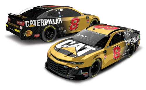 2019 Daniel Hemric NASCAR Diecast 8 CAT Caterpillar CWC 1:24 Lionel Action RCCA Elite Color Chrome 98