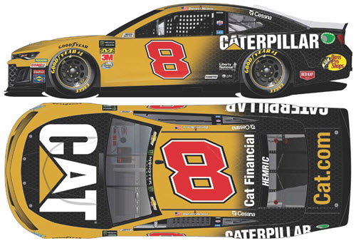 2019 Daniel Hemric NASCAR Diecast 8 CAT Caterpillar CWC 1:24 Lionel Action RCCA Elite Liquid Color 99
