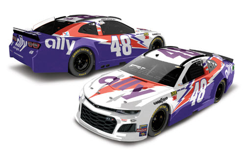 2019 Jimmie Johnson NASCAR Diecast 48 Ally Darlington Retro Thorwback CWC 1:24 Lionel Action RCCA Elite Color Chrome 99