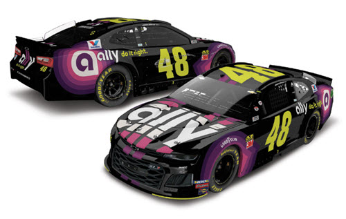 2019 Jimmie Johnson NASCAR Diecast 48 Ally Daytona Clash Win Raced Version CWC 1:24 Lionel Action RCCA Elite Color Chrome 96