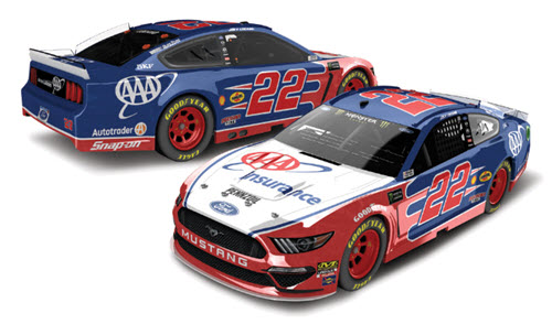 2019 Joey Logano NASCAR Diecast 22 AAA Insurance CWC 1:24 Lionel Action RCCA Elite Liquid Color 99
