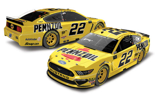 2019 Joey Logano NASCAR Diecast 22 Pennzoil CWC 1:24 Lionel Action RCCA Elite 98