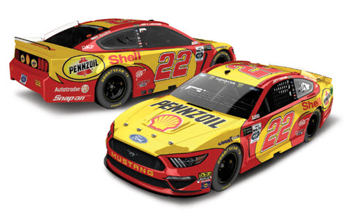 2019 Joey Logano NASCAR Diecast 22 Shell Pennzoil Darlington Throwback CWC 1:24 Lionel Action RCCA Elite Color Chrome 99