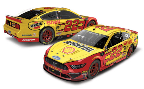 2019 Joey Logano NASCAR Diecast 22 Shell Pennzoil Michigan Win Raced Version CWC 1:24 Lionel Action RCCA Elite Liquid Color 95