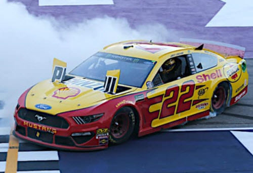 2019 Joey Logano NASCAR Diecast 22 Shell Pennzoil Michigan Win Raced Version CWC 1:24 Lionel Action RCCA Elite Liquid Color 96