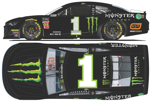2019 Kurt Busch NASCAR Diecast 1 Monster Energy CWC 1:24 Lionel Action RCCA Elite Liquid Color 99