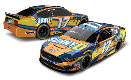 2019 Ricky Stenhouse Jr NASCAR Diecast 17 SunnyD Sunny D CWC 1:24 Lionel Action ARC Color Chrome Autographed 99
