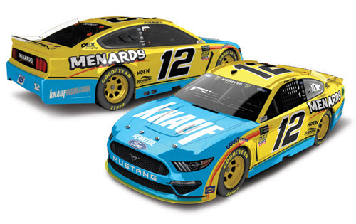 2019 Ryan Blaney NASCAR Diecast 12 Knauf Insulation CWC 1:24 Lionel Action ARC Color Chrome Autographed 99