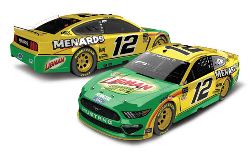 2019 Ryan Blaney NASCAR Diecast 12 Libman CWC 1:24 Lionel Action ARC Autographed 99