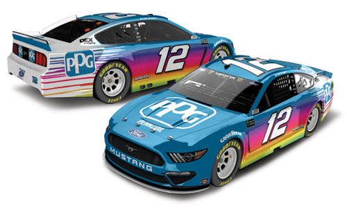 2019 Ryan Blaney NASCAR Diecast 12 PPG CWC 1:24 Lionel Action ARC Color Chrome Autographed 99