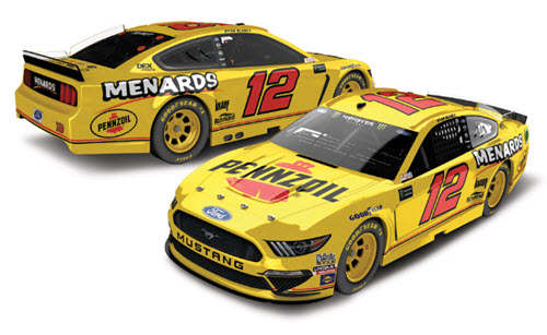 2019 Ryan Blaney NASCAR Diecast 12 Pennzoil Menards Darlington Retro Throwback CWC 1:24 Lionel Action ARC Autographed 99