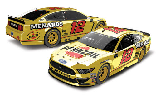 2019 Ryan Blaney NASCAR Diecast 12 Pennzoil Menards Darlington Retro Throwback CWC 1:24 Lionel Action ARC Color Chrome Autographed 99