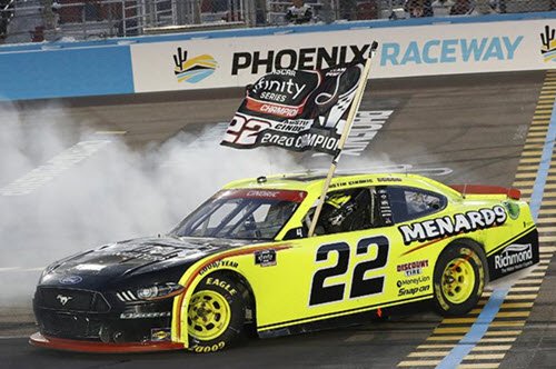 2020 Austin Cindric NASCAR Diecast 22 Menards Phoenix Win Raced Version CWC 1:24 Lionel Action ARC 98