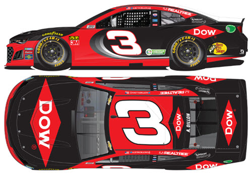 2020 Austin Dillon NASCAR Diecast 3 Dow Chemical CWC 1:64 Lionel Action ARC 99