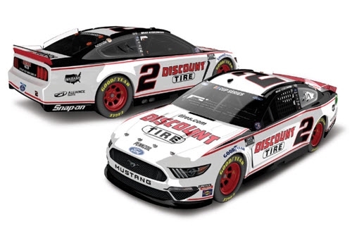 2020 Brad Keselowski NASCAR Diecast 2 Discount Tire All Star 1:24 Lionel Action ARC Light Up 98