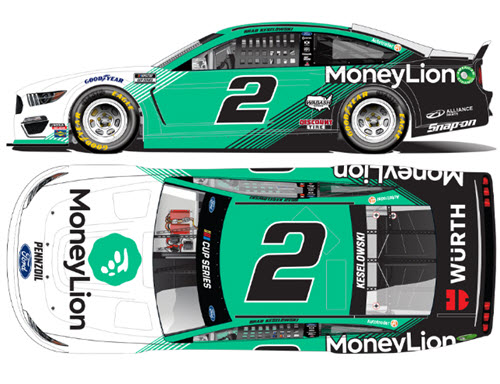2020 Brad Keselowski NASCAR Diecast 2 MoneyLion Money Lion 1:24 Lionel Action RCCA Elite Liquid Color 99