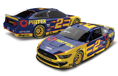 2020 Brad Keselowski NASCAR Diecast 2 PIRTEK 1:24 Lionel Action ARC Color Chrome 99