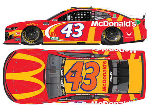 2020 Bubba Wallace NASCAR Diecast 43 McDonalds CWC 1:24 Lionel Action ARC Color Chrome Autographed 99