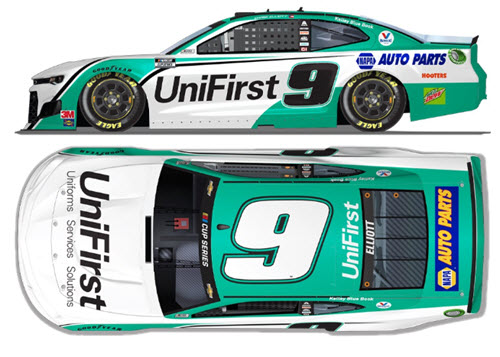 2020 Chase Elliott NASCAR Diecast 9 UniFirst Uni First All Star CWC 1:24 Lionel Action ARC Light Up 99