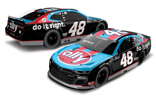 2020 Jimmie Johnson NASCAR Diecast 48 Ally Darlington Retro Throwback CWC 1:24 Lionel Action RCCA Elite Color Chrome 99