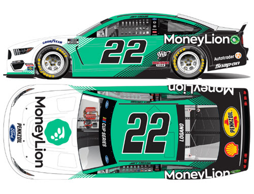 2020 Joey Logano NASCAR Diecast 22 MoneyLion Money Lion CWC 1:24 Lionel Action RCCA Elite Liquid Color 99
