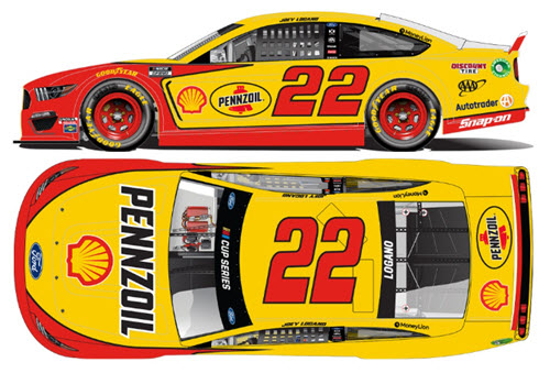 2020 Joey Logano NASCAR Diecast 22 Shell Pennzoil All StarCWC 1:24 Lionel Action ARC Light Up 99