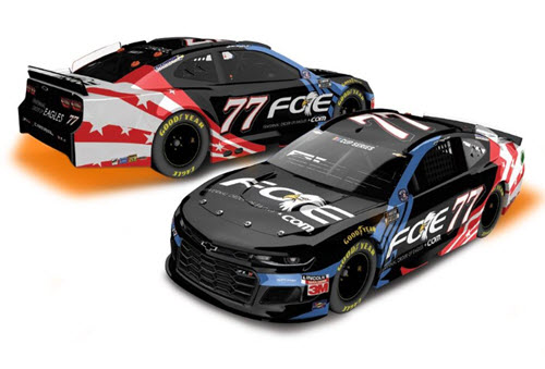 2020 Justin Haley NASCAR Diecast 77 FOE Fraternal Order Eagles All Star CWC 1:24 Lionel Action ARC Light Up 98