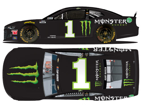 2020 Kurt Busch NASCAR Diecast 1 Monster Energy CWC 1:24 Lionel Action RCCA Elite Liquid Color 99