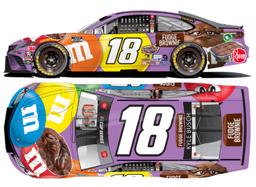 2020 Kyle Busch NASCAR Diecast 18 M&M M&Ms Fudge Brownie CWC 1:24 Lionel Action ARC 99