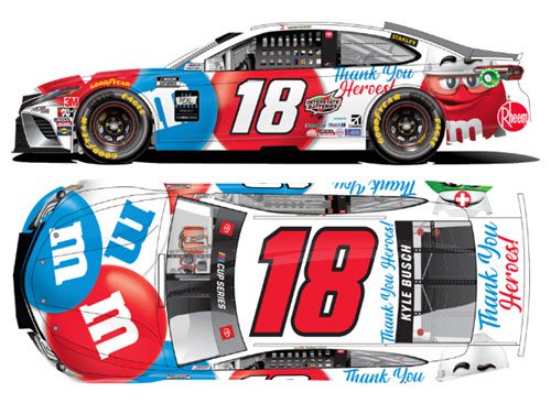 2020 Kyle Busch NASCAR Diecast 18 M&M M&Ms Thank You Heroes CWC 1:64 Lionel Action ARC 99