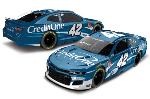 2020 Kyle Larson NASCAR Diecast 42 Credit One Bank 1:24 CWC Lionel Action RCCA Elite 99