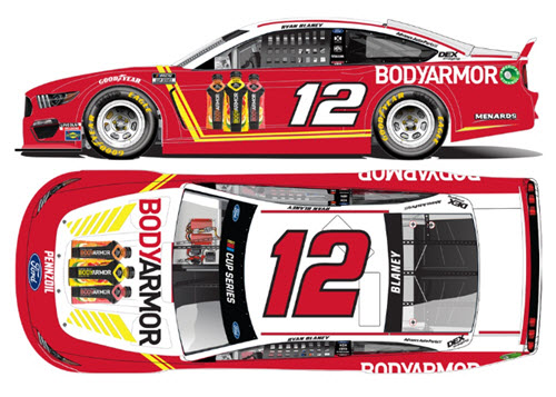 2020 Ryan Blaney NASCAR Diecast 12 BodyArmor Body Armor All Star CWC 1:24 Lionel Action RCCA Elite Color Chrome 99