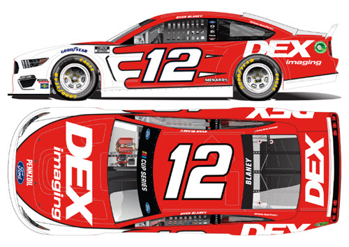 2020 Ryan Blaney NASCAR Diecast 12 DEX Imaging CWC 1:24 Lionel Action ARC Color Chrome 99