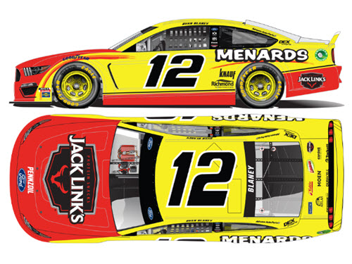 2020 Ryan Blaney NASCAR Diecast 12 Jack Links CWC 1:24 Lionel Action ARC 99