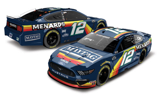2020 Ryan Blaney NASCAR Diecast 12 Menards Maytag Darlington CWC 1:24 Lionel Action ARC Color Chrome 99