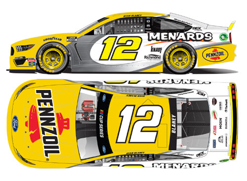 2020 Ryan Blaney NASCAR Diecast 12 Menards Pennzoil CWC 1:24 Lionel Action RCCA Elite Liquid Color 99