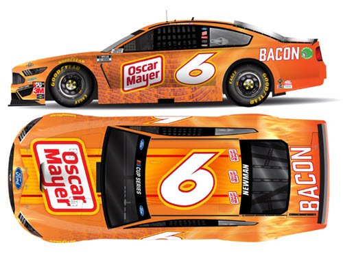 2020 Ryan Newman NASCAR Diecast 6 Oscar Mayer Bacon All Star CWC 1:24 Lionel Action ARC Autographed 99