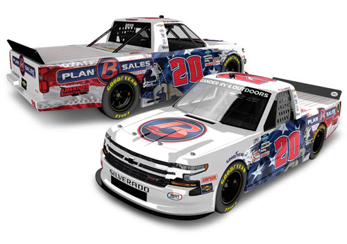 2020 Spencer Boyd NASCAR Diecast 20 Plan B Sales Veterans Day Truck 1:64 Lionel Action ARC 99