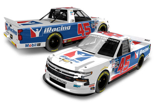 2020 Ty Majeski NASCAR Diecast 45 iRacing Truck 1:24 Lionel Action ARC Autographed 99