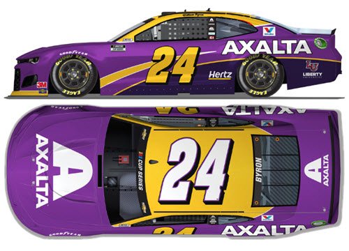 2020 William Byron NASCAR Diecast 24 Axalta Kobe Bryant Tribute CWC 1:24 Lionel Action ARC Autographed 99