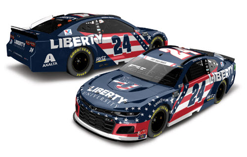 2020 William Byron NASCAR Diecast 24 Liberty University Patriotic CWC 1:24 Lionel Action RCCA Elite Color Chrome 99