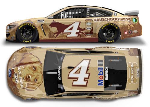 2021 Kevin Harvick NASCAR Diecast 4 Busch Dog Brew CWC 1:64 Lionel Action ARC 99