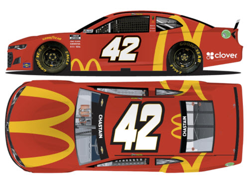 2021 Ross Chastain NASCAR Diecast 42 McDonalds 1:24 CWC Lionel Action RCCA Elite 99