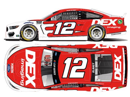 2021 Ryan Blaney NASCAR Diecast 12 DEX Imaging CWC 1:24 Lionel Action RCCA Elite Liquid Color 99