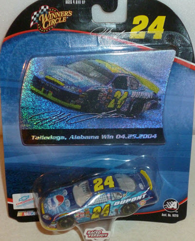 24 Jeff Gordon Diecast 2004 Pepsi Shards Dega Talladega Win Raced Version CWC 1:64 Winners Circle 1